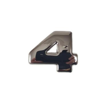 "SCANIA R 04-18 emblem ""4"" letter cover chrome stainless"