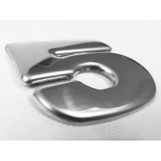 "SCANIA R 04-18 emblem ""5"" letter cover chrome stainless"