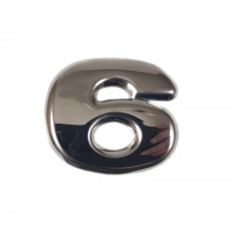 "SCANIA R 04-18 emblem ""6"" letter cover chrome stainless"
