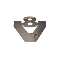 Nerezovy emblem napis V8 logo Scania 12cm