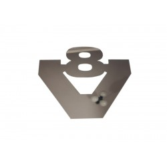 V8 Logo Scania 12cm Edelstahl Chrom