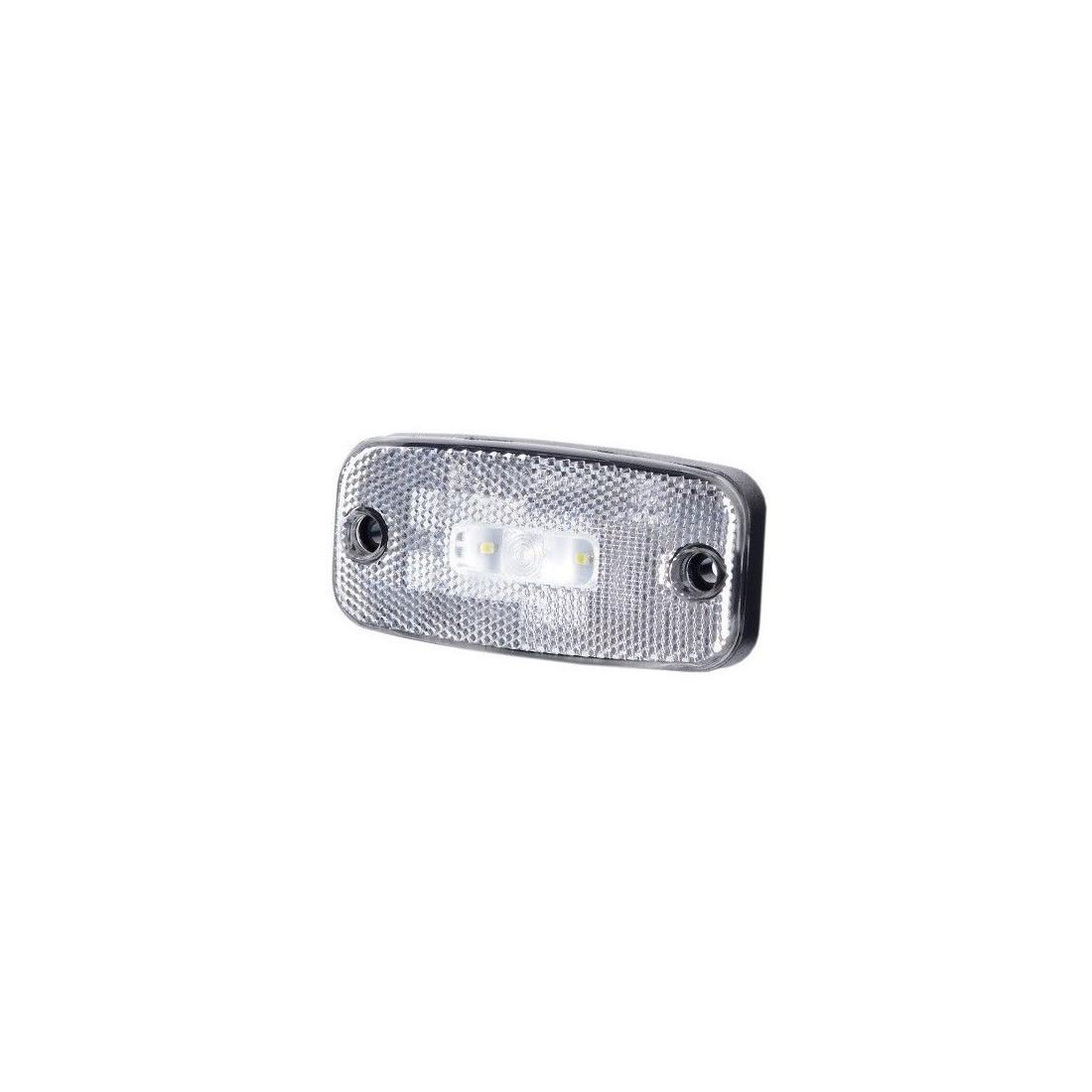 LED white marker light with reflex