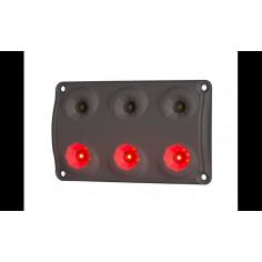 Red + white LED truck interior light
