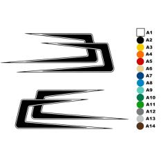 2x NAKLEJKA HAKI DUŃSKIE 28x88 [cm]