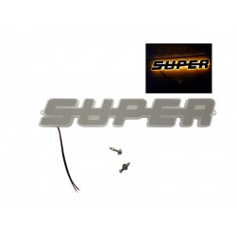 SUPER EMBLEMAT PODŚWIETLANY POMARAŃCZOWY LED