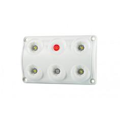 Lampa oświetlenia wnętrza, prostokątna z przełącznikiem i czerwoną diodą  LWD...