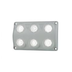 Lampa oświetlenia wnętrza, prostokątna biała LWD 2154