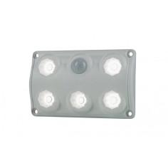 Lampa oświetlenia wnętrza, prostokątna, z czujnikiem ruchu biała  LWD 2156
