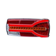 Lampa zespolona tylna Carmen z czerwonymi nakładkami na światło hamowania...