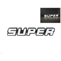 SUPER bily podsvícený emblem LED SCANIA