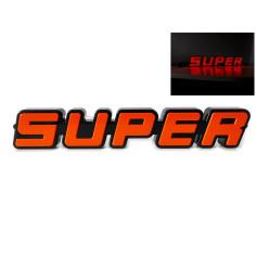 SUPER oranzovy podsvícený emblem LED SCANIA