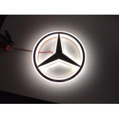 MERCEDES bily podsvícený emblem LED hvezda