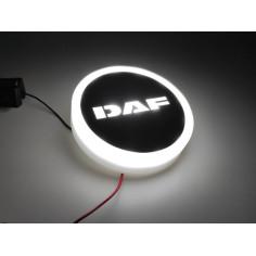 DAF LOGO EMBLEM WHITE LED LIGHTING STAINLESS CHROM