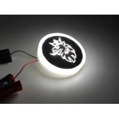 SCANIA bily podsvícený emblem LED