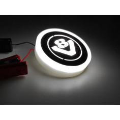 SCANIA V8 bily podsvícený emblem LED