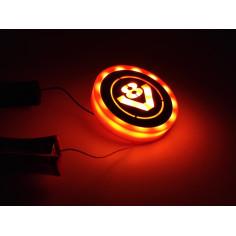 SCANIA oranzovy podsvícený emblem LED