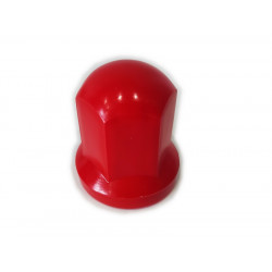 Wheel nut cover chrome 32mm RED