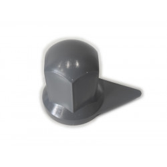 Wheel nut cover chrome 33mm GREY