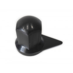 Wheel nut cover chrome 32mm BLACK