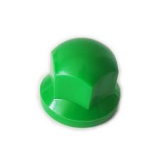 Radmutternkappe Kunststoff  Chrom 33mm Grün