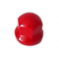 Radmutternkappe Kunststoff  Chrom 33mm RED