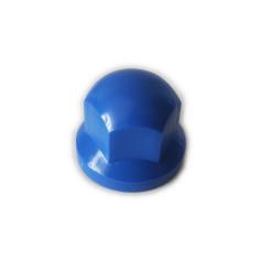 Radmutternkappe Kunststoff  Chrom 32mm BLAU