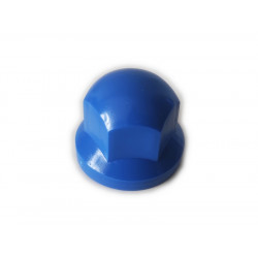 Wheel nut cover chrome 33mm BLUE
