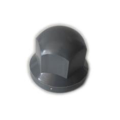 Radmutternkappe Kunststoff  Chrom 33mm GRAU
