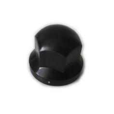 Wheel nut cover chrome 33mm BLACK