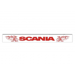 Mud flap trailer SCANIA WHITE RED