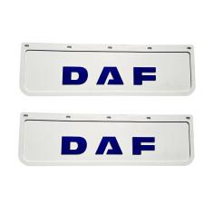 2x Mud flap DAF white blue 3D 60x18