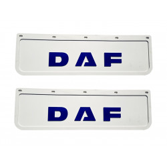 2x Schmutzfänger DAF 3D Weiss - Blau 60x18