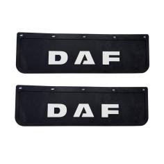 2x Mud flap DAF black - white 3D 60x18