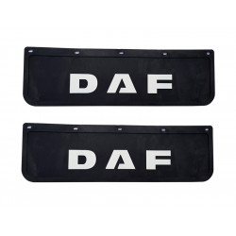 2x Schmutzfänger DAF 3D Schwarz - Weiss 60x18