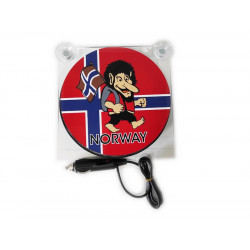 LIGHTBOX 17x17 TROLL NORWAY LED TRUCK PLATE DELUXE