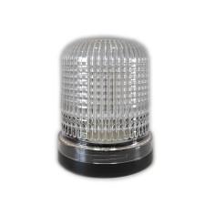 Flashing light beacon LED white 24V
