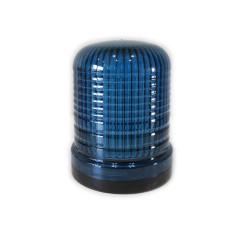 Flashing light beacon LED blue 24V