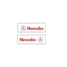 2x Mud flap MERCEDES white red 60x18