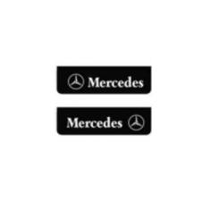 2x Mud flap MERCEDES black white 60x18