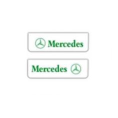 2x Mud flap MERCEDES white green 60x18