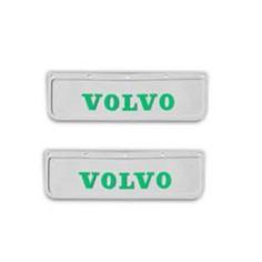 2x Schmutzfänger VOLVO 3D Weiss - Grün 60x18
