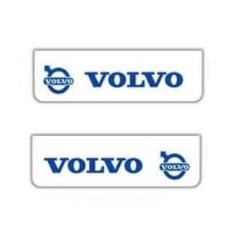 2x Schmutzfänger VOLVO Weiss - Blau 60x18