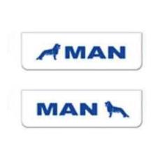 2x ZASTERKA MAN bílo modra 60x18