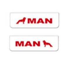 2x ZASTERKA MAN bílo cervena 60x18