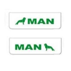 2x ZASTERKA MAN bílo zelena 60x18