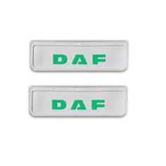 2x Schmutzfänger DAF 3D Weiss - Grün 60x18