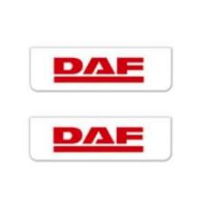 2x Schmutzfänger DAF Weiss - Rot 60x18