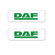 2x Schmutzfänger DAF Weiss - Grün 60x18
