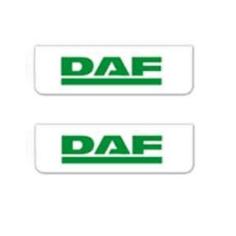 2x ZASTERKA DAF bílo zelena 60x18