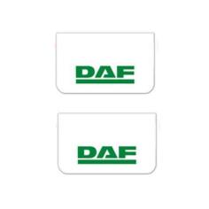2x Mud flap DAF white green 64x36